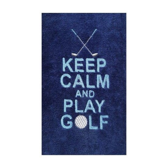 Serviette de golf brodée