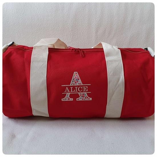 Grand sac polochon rouge et...
