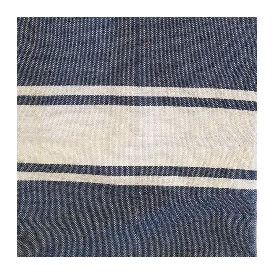 Fouta bleu jeans brodée