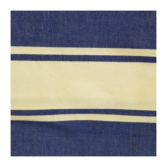 Fouta bleu violet brodée