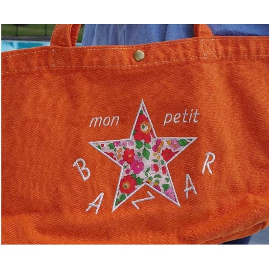 Petit sac orange motif en...