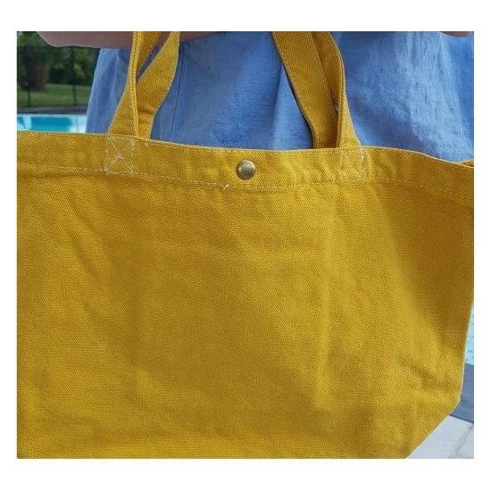 Petit sac moutarde motif en...
