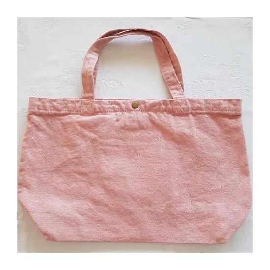 Grand sac bois de rose brodé